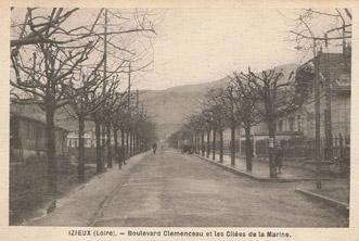 Boulevard G. Clémenceau qui deviendra Boulevard P. Joannon